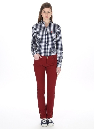 Asymmetry Pantolon Bordo